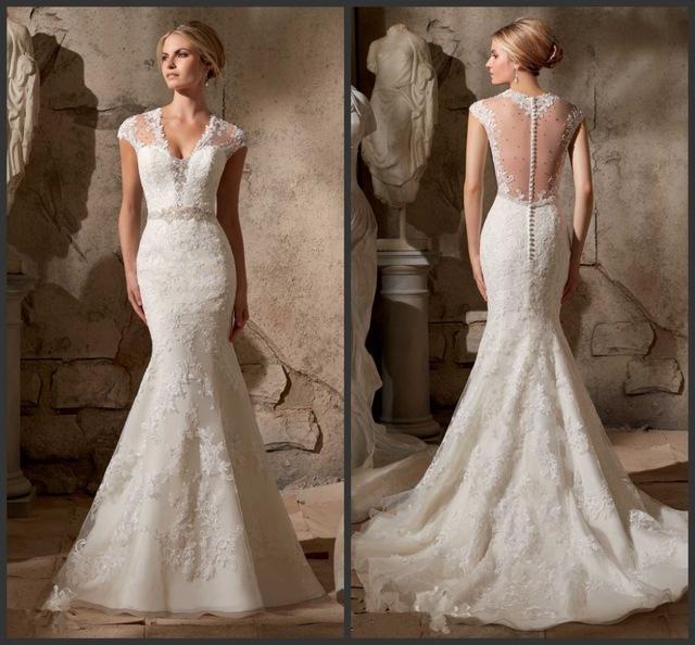 Vestido de novia en diseños con estilo sirena y corte A