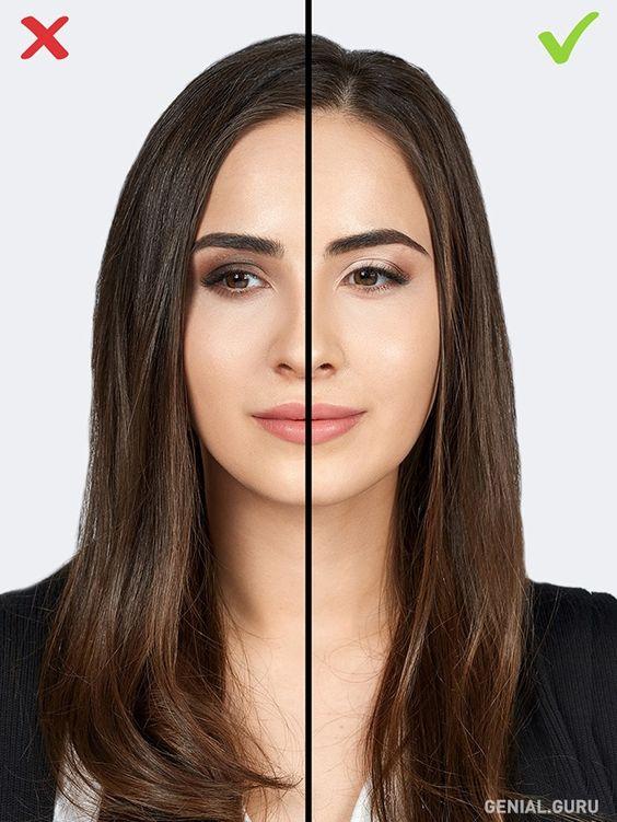 imagen que demuestra los errores a la hora de maquillarse