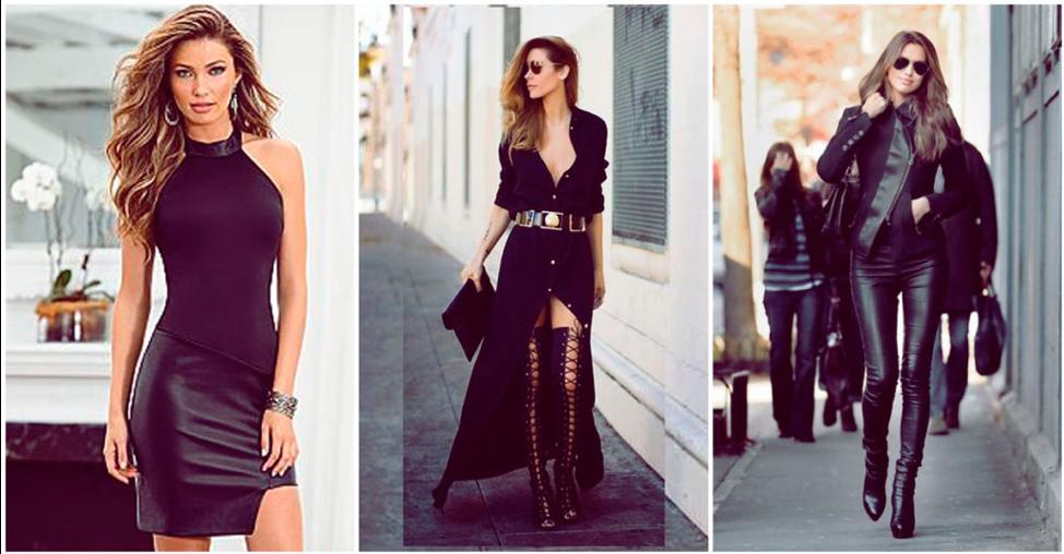 vestidas con ropa de color negro